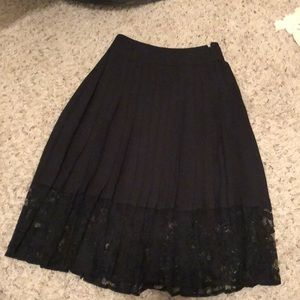 Black lace  express skirt